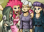 humanized limestone_pie marble_pie maud_pie pinkie_pie siblings the_artrix