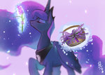 basket flowers kanachoco lavender magic princess_luna