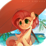 beach fluttershy kuma8696 umbrella