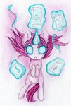 0okami-0ni absurdres book filly highres magic starlight_glimmer traditional_art