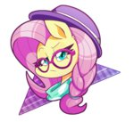 fluttershy glasses hat pegasisters82