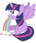dm29 princess_twilight puking rainbow rainbow_puke twilight_sparkle