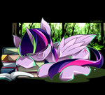 book highres princess_twilight sleeping twilight_sparkle tyuubatu