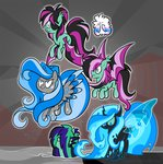 bat_pony changeling danger_mcsteele egophiliac eyepatch imogen meadowlark original_character paper_hat pebbl princess_luna rainbow_power sunshine woona woonastuck