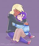 applejack feellikeaplat highres hugs humanized rarijack rarity shipping