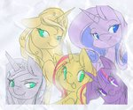 border g2 golden_light princess_silver_swirl rarity sunset_shimmer twilight_sparkle xazteiin