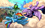 canterlot cloud harwick highres ponyville princess_twilight rainbow_dash tank twilight_sparkle