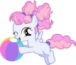absurdres background_ponies ball beach_ball comeha highres vector