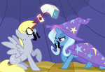 derpy_hooves egophiliac mustache the_great_and_powerful_trixie