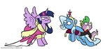 dress egophiliac elements_of_harmony inconvenienttrixie princess_twilight spike the_great_and_powerful_trixie twilight_sparkle