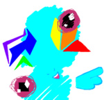 :gonk: abstract_art flockdraw hipster-ponies portrait rainbow_dash transparent