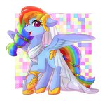 dress gala_dress kanachoco rainbow_dash