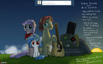 ask ask-dj-p0n3 filly guitar highres instrument original_character parents the_rolling_stones valcron vinyl_scratch