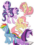 a-vodka-mutini fluttershy highres princess_twilight rainbow_dash starlight_glimmer twilight_sparkle