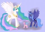 bibliodragon flutterponies g1 princess_celestia princess_luna the_simpsons toy