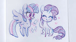 celebi-yoshi magic princess_twilight rarilight rarity shipping traditional_art twilight_sparkle