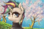 absurdres highres plotcore punk_rarity rarity trees