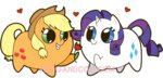 applejack coggler flowers gopherfrog heart rarijack rarity shipping