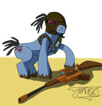 artist_unknown borderlands crossover gun mordecai ponified rifle weapon