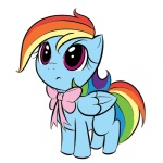 bow filly kloudmutt rainbow_dash