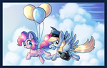astrofiziks balloon border cloud derpy_hooves hat mail mailbag pinkie_pie