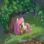 duvivi fluttershy highres stream tree
