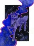 lord-aragoon princess_luna stars traditional_art watermark