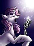 gloomymark microphone singing sweetie_belle