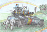 bunny colored_pencil highres patoriotto rainbow_dash tank_(vehicle)