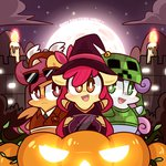 apple_bloom candle costume creeper cutie_mark_crusaders jack-o-lantern mackinn7 minecraft nightmare_night pumpkin scootaloo sweetie_belle tagme