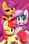 apple_bloom cutie_mark_crusaders highres scootaloo shibaroll sweetie_belle