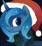 christmas hat highres moozua portrait princess_luna scarf