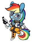 costume crossover highres overwatch rainbow_dash ramott tracer