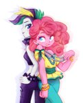 equestria_girls humanized jumblehorse manecut pinkie_pie punk_rarity rarity