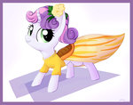 artoftheghostie border dress flowers highres sweetie_belle