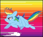 animated pixel_art rainbow_dash vaporotem