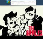 apple_bloom applejack ask askbigmcintosh big_macintosh granny_smith grayscale mafia parody the_sopranos txlegionnaire