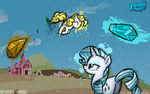 barn fighting_is_magic g1 galaxyart gems pinkie_pie rarity surprise sweet_apple_acres