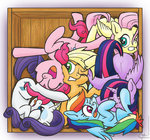 applejack crate fluttershy main_six muffinexplosion not_that_kind_of_shipping pinkie_pie rainbow_dash rarity shipping twilight_sparkle