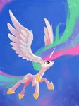 ajvl flying highres i_shall_not_use_my_wings_as_ears princess_celestia wing_ears