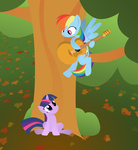 guitar i_shall_not_use_my_hooves_as_hands lostzilla rainbow_dash twilight_sparkle