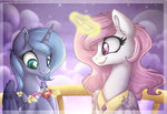 flowers highres kerydarling magic princess_celestia princess_luna young