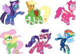 applejack fillisecond fluttershy highres main_six masemj masked_matterhorn mistress_marevelous pinkie_pie power_ponies radiance rainbow_dash rarity saddle_rager twilight_sparkle vector zapp