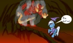 artist_unknown balrog comic crossover lord_of_the_rings on_fire the_great_and_powerful_trixie