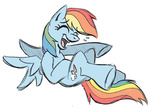 kuroi-wolf laughing rainbow_dash