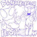 comic crossover haunter lineart megasweet pokemon rainbow_dash