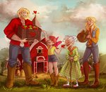 apple_bloom applejack big_macintosh granny_smith humanized maaronn sweet_apple_acres