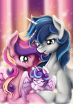 digitalcyn highres princess_cadance princess_flurry_heart shining_armor