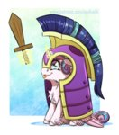 helmet inuhoshi-to-darkpen magic princess_flurry_heart sword weapon
