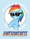dstears glasses rainbow_dash sunglasses text